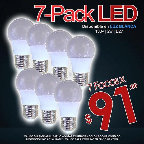 7 Focos LED 2w Luz Fría ILV-QP-005