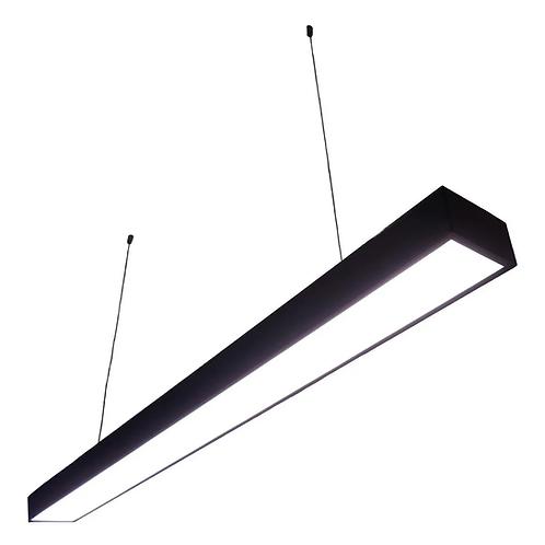Lampara Office LED Colgante 120x7x4 BF AG-BG-CFZ-24W-NEGRO