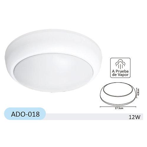 Lum LED Sobreponer Redondo IP65 6000k 127v ADO-018