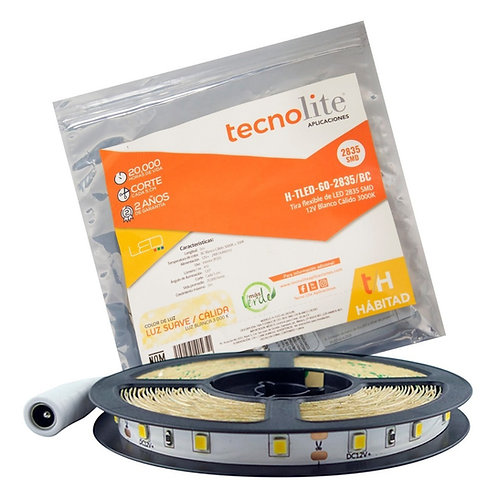 Tira flexible de LED 2835 SMD 12V 5 metros H-TLED-60-2835/BC