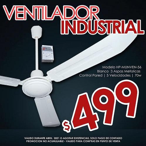 """Ventilador Industrial de Techo 56"""" HP-MUNVEN-56"""