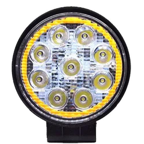 "Faro Redondo LED 4"" C/Aro 27w 12v SP-B27EP-RG"