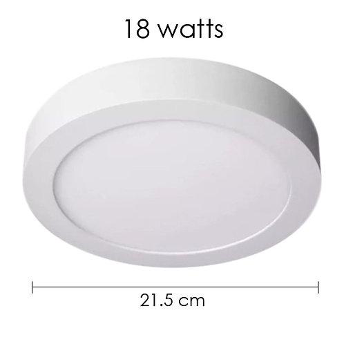 Panel LED 18W Sobreponer Redondo Blanco Frío ADO-013