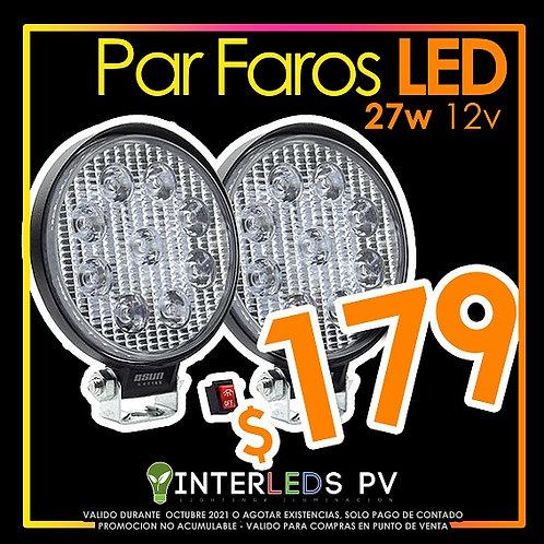 Par de Faros LED Redondo 27w OSN0006