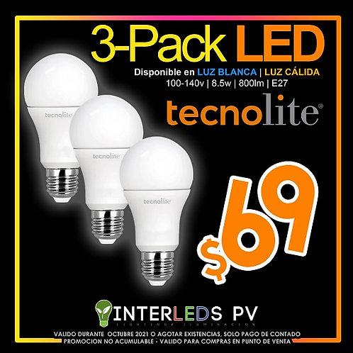 3Pack A19 LED 8.5w A19-LED/010/65-3 / A19-LED/010/30-3