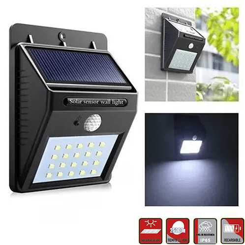 SOLAR Lamp Muro 2W IP65 C/Sensor 250LM HP-MUNAS-0220