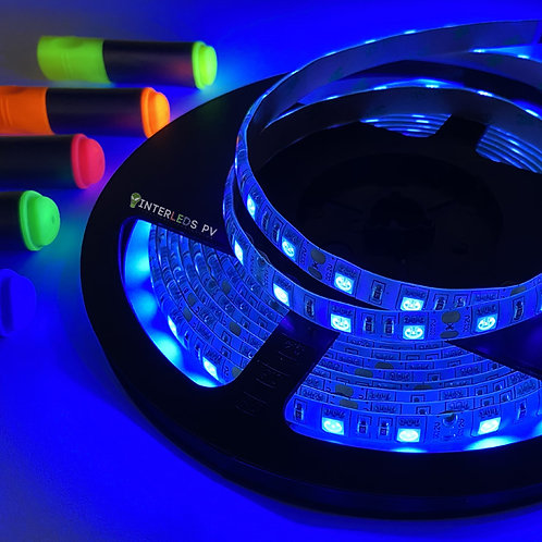 TIRA LED Luz Negra UV 62W 5mts + Fuente Poder IP65 S00503