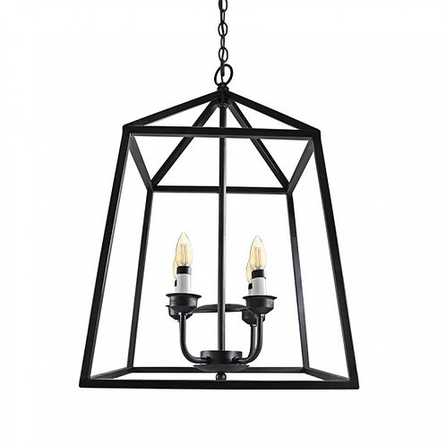 Candil Moderno Forja 4 Luces Negro - C2028-4/N - CALUX