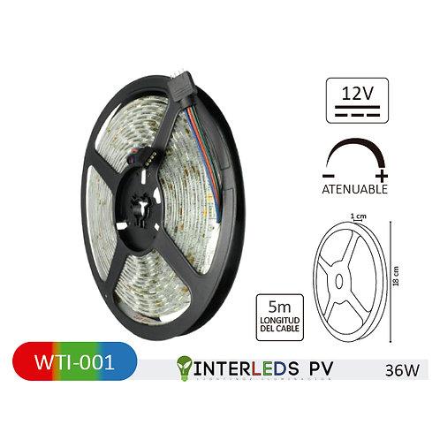 TIRA 150 LEDS 5050 5M 36W EXTERIOR RGB WTI-001