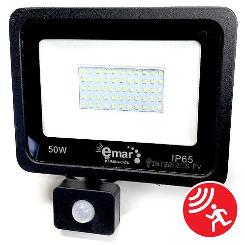 Reflector C/Sensor 50w Blanco Frio EM-EMSL50WBC
