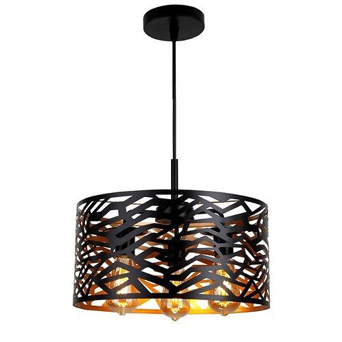 Lámpara Golden Black tipo queso 3 luces NG-CQDC-03