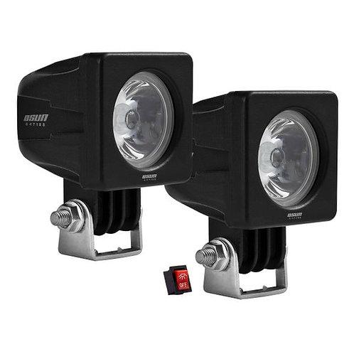 Par de Faros LED Cuadrados 10w 1 LED OSN0012