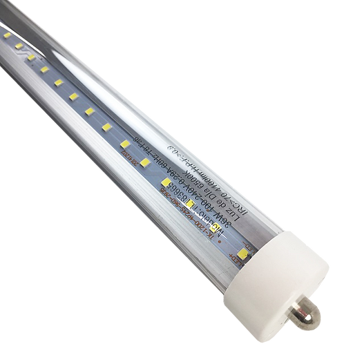 Tubo LED T8 36w 6500K 240cm Transparente TLT83665-CL - Tishman Lighting