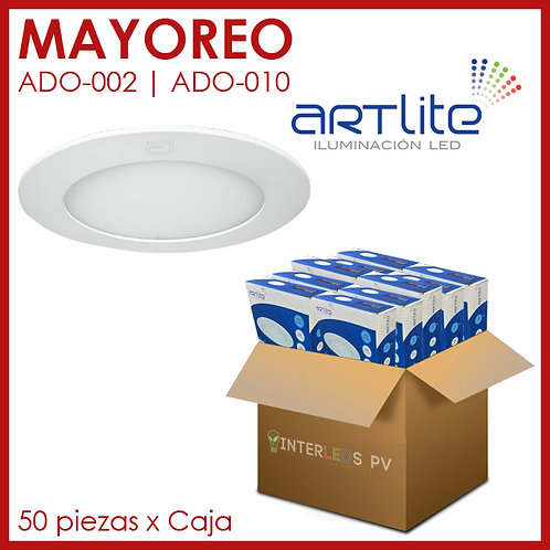 MAYOREO Panel LED 6W Redondo Slim  - Artlite