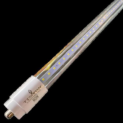 Tubo LED T8 36w 6500K 240cm Transparente TLT83665OPV - Tishman Lighting