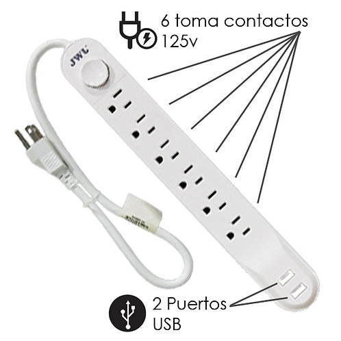 Barra Multi-contacto con USB JMC-02
