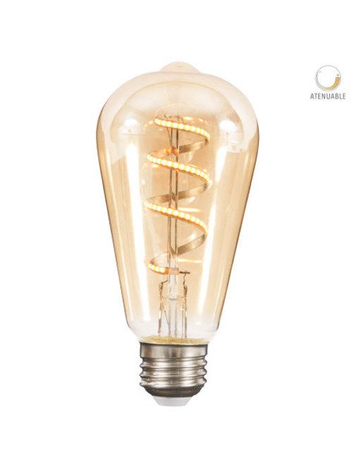 Foco LED Fil Espiral ST64 4.5w 4DST21LEDFT27VA