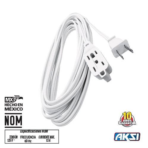 Extensión Domestica 2mts Blanca CAL16 AK-110301