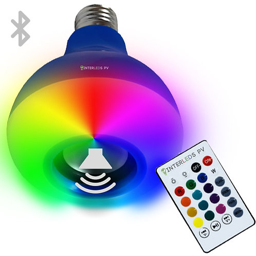 Foco Bocina 12w RGB + BT BL-014BL