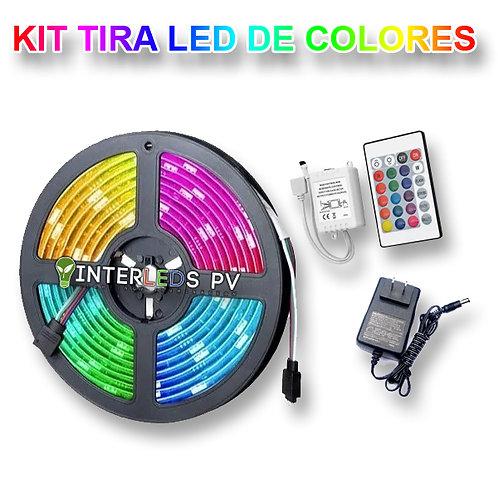 Kit Tira LED 5mts RGB+CTRL+F.P. VA-ROLLO