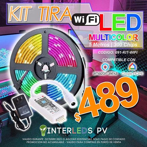 Kit Tira LED 5m IP65 Wifi 091-KIT-WIFI