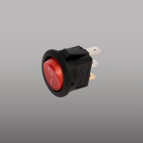 Interruptor Rojo D/Balancín Redondo c/piloto 4A SI-13P