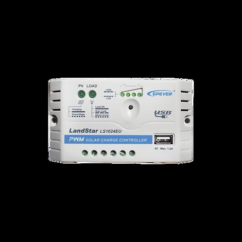 Controlador Epsolar PWM 12/24v 10A C/USB LS1024EU