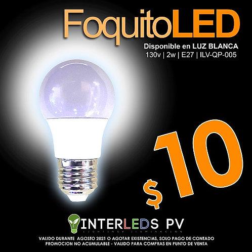 Foquito LED 2w Luz Fría ILV-QP-005