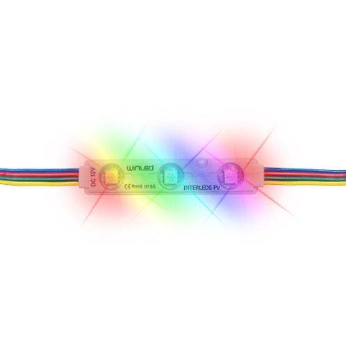 MODULO 3 LEDS SMD5050 0.72W RGB EXTERIOR WMO-001