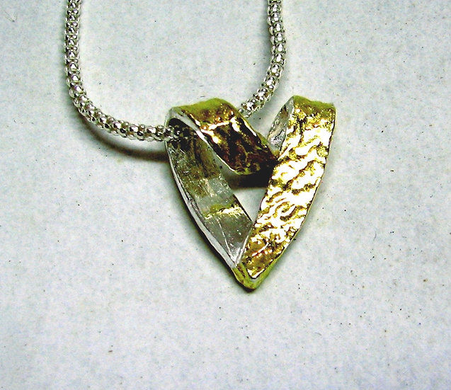 Heart Of 24k Gold And Fine Silver