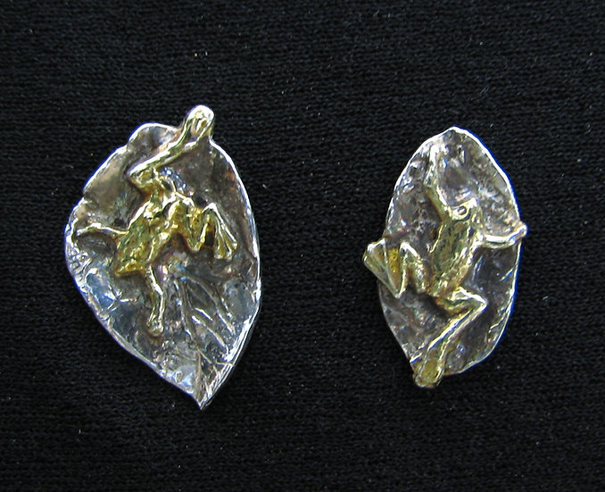 Silver And Gold Frogs