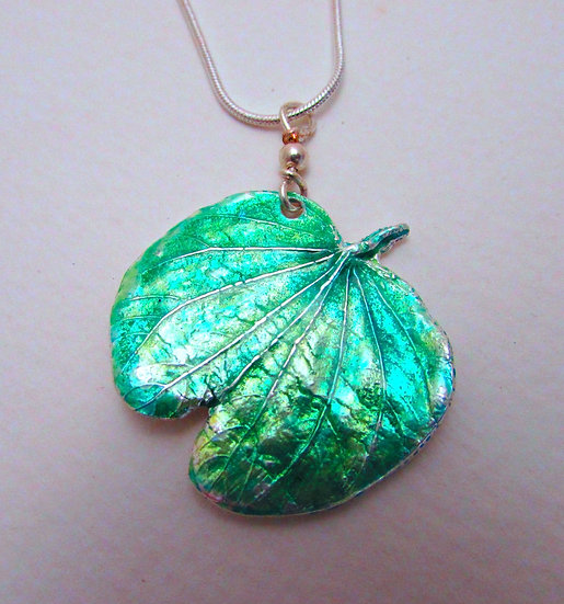 Orchid Leaf On A Silver Chain