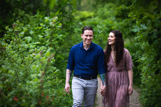 James + Christine's Engagement Shoot @ the Alfred Caldwell Lily Pool