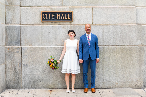 Emma + Mark's Post-City Hall Wedding Ceremony Session