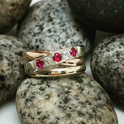 A custom make, taking the elements from one of our most popular styles, this crossover ring was CAD,