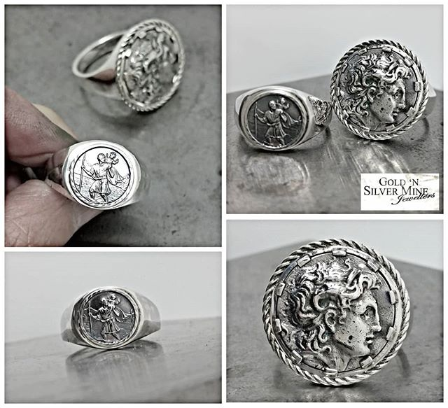 A couple of sterling silver gents signet rings completed recently..