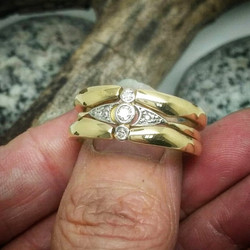 A sweet delicate vintage diamond ring, that customer wanted to keep 'as is' but prefer a more substa