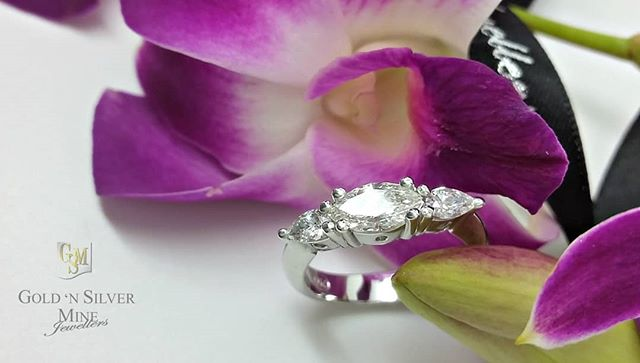 A recent custom make...centre Marquise Diamond is one I hand selected on my last trip to Antwerp