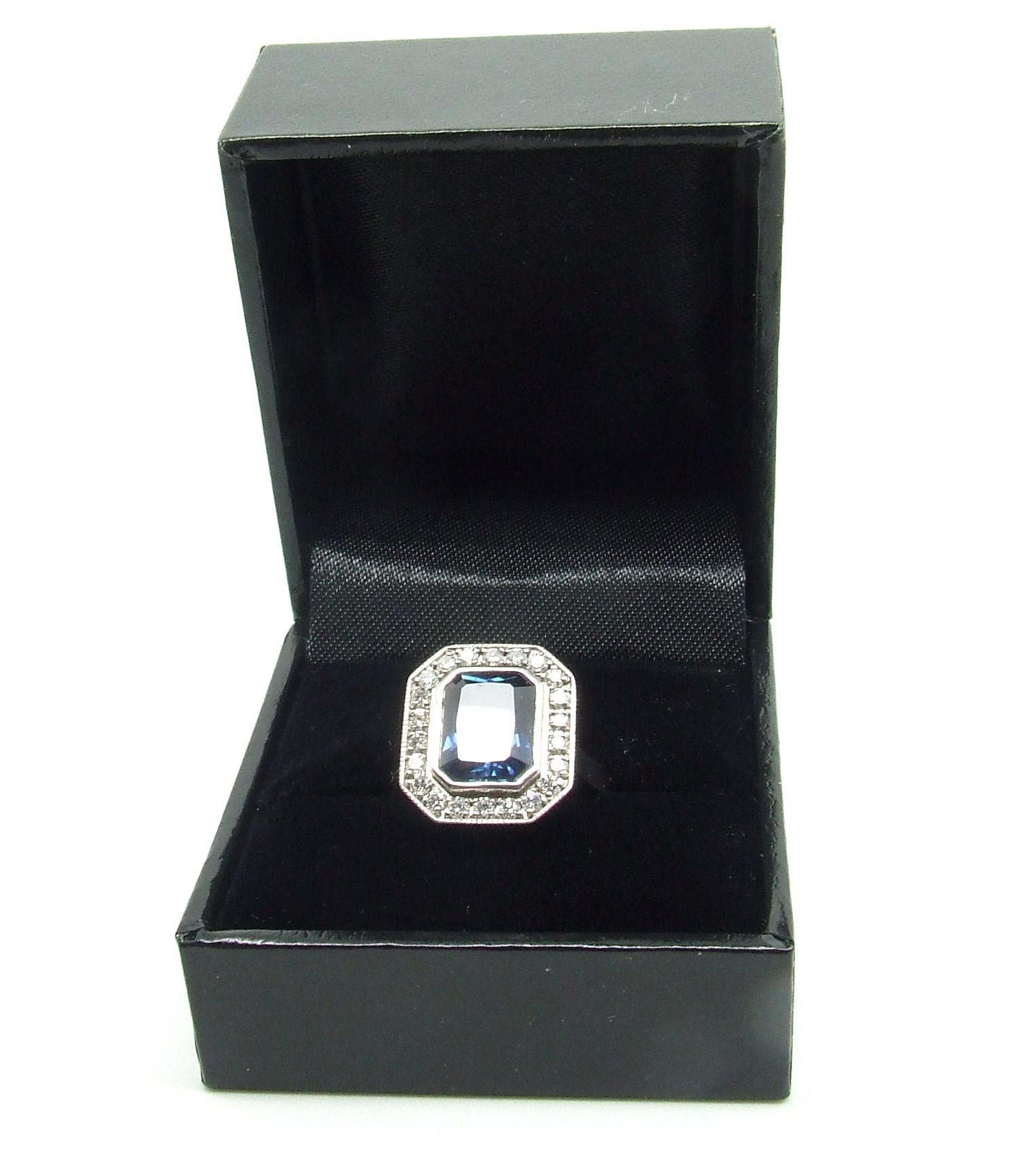 Sapphire & Diamond Cluster