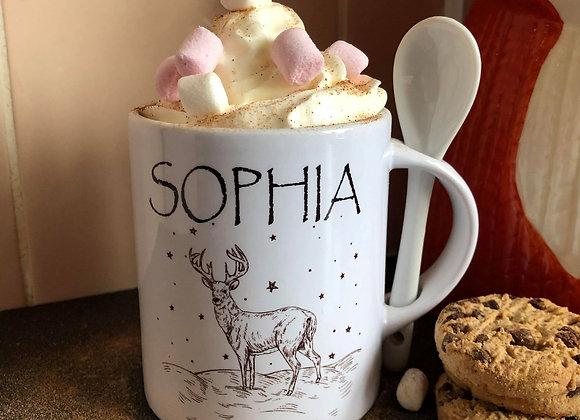 Stag Personalised Hot Chocolate Mug