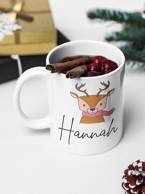 Reindeer Personalised Hot Chocolate Mug
