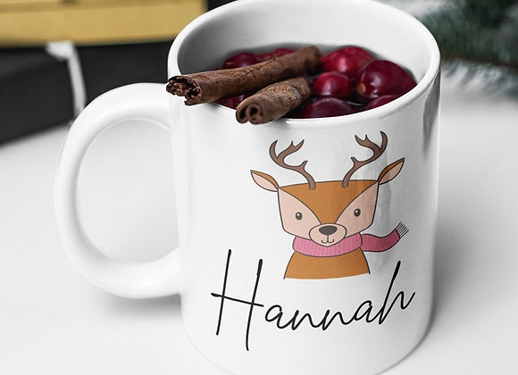Reindeer Personalised Hot Chocolate Mug