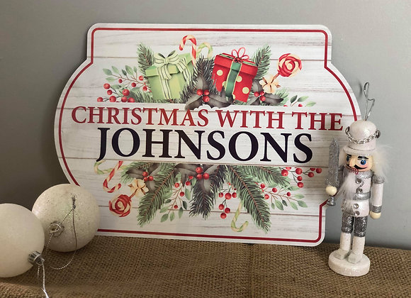 Metal Christmas Sign - Personalised