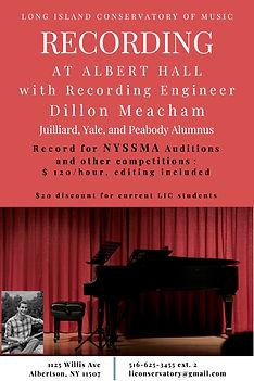 Recording at Albert Hall Poster - Dillon