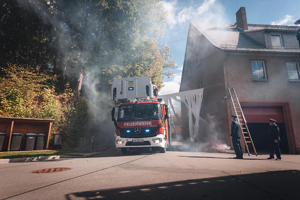 Drehleiter Freiwillige Feuerwehr Zschopau