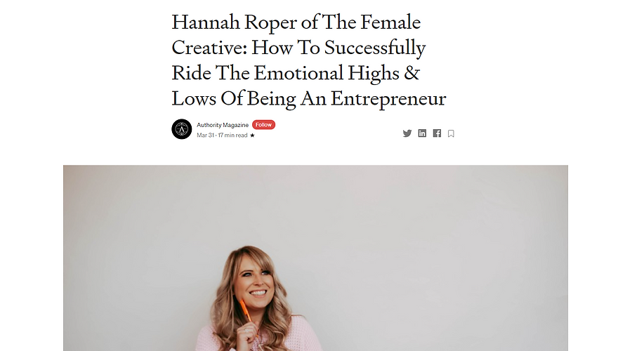Hannah Roper The Female Creative Authori