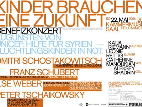 Rede zu meinem Benefizkonzert im Kammermusiksaal der Philharmonie Berlin, 2016