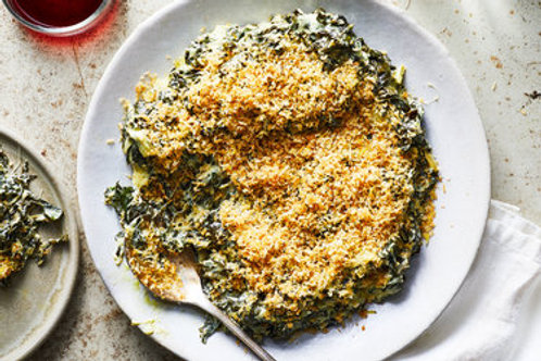 Collared Greens & Kale Gratin