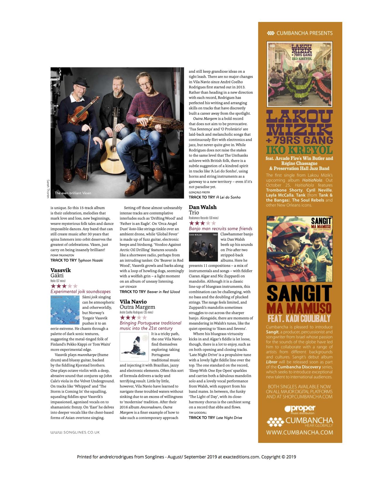 Songlines Magazine, 2019