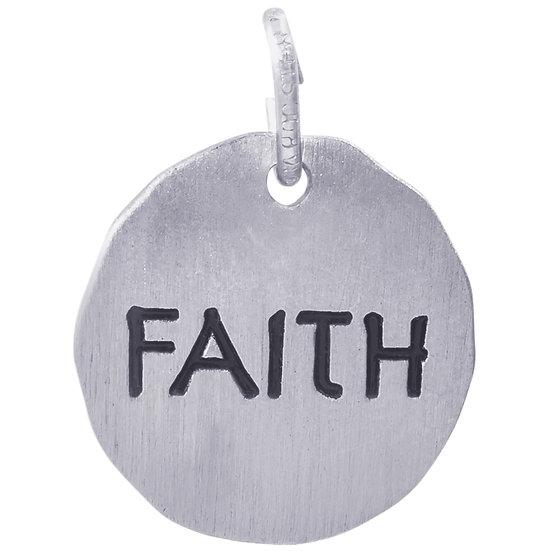 8438 Faith Charm Tag